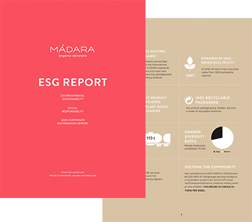 ESG REPORT, MADARA COSMETICS