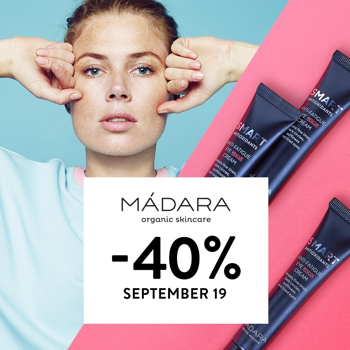 40% off MADARA Cosmetics